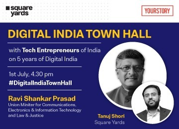 Union Minister addresses Tanuj Shori and several top Indian Entrepreneurs at #DigitalIndia Townhall