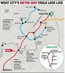 Gurgaon Rapid Metro Route