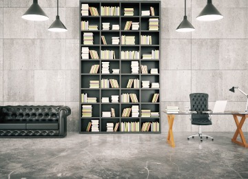 bookshelf is an important accessory for a reading corner