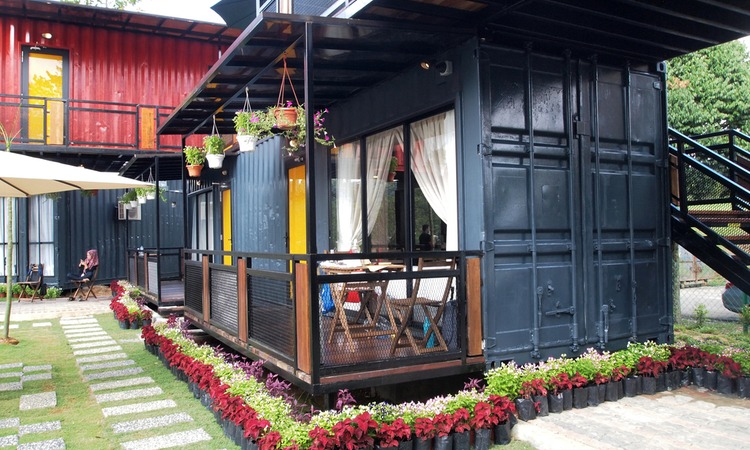 This is the actual image of a shipping container home
