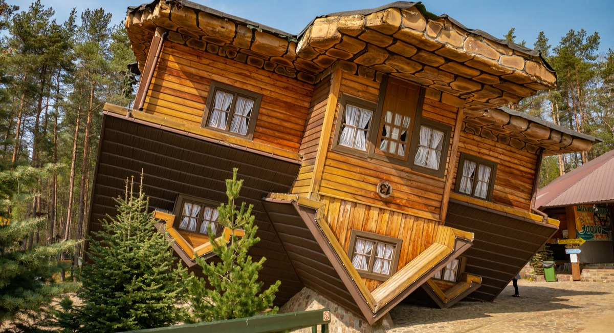 The upside-down house in Northern Poland