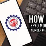 epfo mobile number change